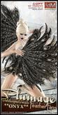 """!dM deviousMind """"Plumage"""" Burlesque Feather Fans **ONYX**"""