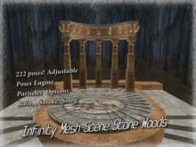 3D Stone Woods Scene + 220 Adjustable Poses Promo Price!!