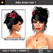 A&A Anish Hair Black (Color 1). Updo with flexi curls and menu colorable flower.