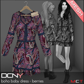 DCNY MESH Boho Baby Dress in Berries