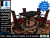 Socialite Dining Setting (red/black) - animated. LOW PRIMS!