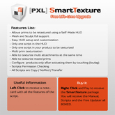 [PXL] SmartTexture for DESIGNERS (Retexture, resizer, MESH supported)