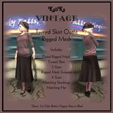 KaliKo Vintage - Tweed Skirt Outfit - Mulberry
