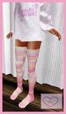 *AIK* Pastel Patchwerk Sox (3 Sizes) + Free Kawaii Sweater <3