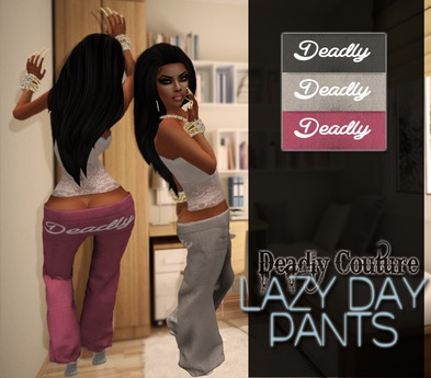 Comfy Pants - Deadly:Dark Grey