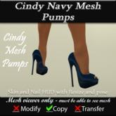 Cindy Mesh Blue Pumps v3