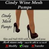 Cindy Wine Mesh Pumps v3
