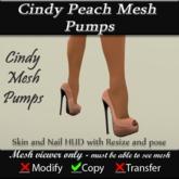 Cindy Peach Mesh Pumps v3