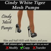 Cindy White Tiger Mesh Pumps v3