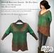 ((Hippo)) Bohemian Sweater - Dip Dye Green