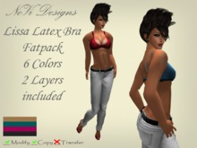 Lissa Latex Sexy Bra FATPACK! 6 Colors