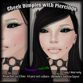 :Z.S: Dimpled Cheeks with piercings (lower price)
