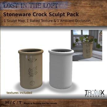 Trowix - Stoneware Crock Sculpt Pack