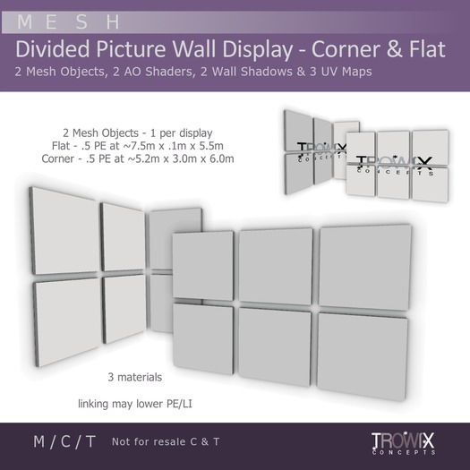 Trowix - Divided Picture Wall Display Mesh Pack