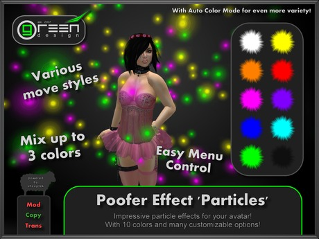 ●GD● Poofer Effect 'Particles' [Multi Color, Many Settings] Customizable Particle Emitter Poof Effects