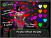 ●GD● Poofer Effect 'Hearts' [Multi Color, Many Settings] Customizable Particle Emitter Poof Effects