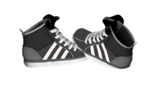 Mesh Sneakers Grey With White Stripe