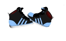 Mesh Sneakers Unisex Black and Blue