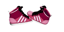 Mesh Sneakers Pink and White