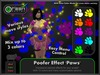 ●GD● Poofer Effect 'Paws' [Multi Color, Many Settings] Customizable Particle Emitter Poof Effects