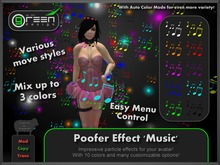 ●GD● Poofer Effect 'Music' [Multi Color, Many Settings] Customizable Particle Emitter Poof Effects