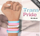 Mad' - Trans Pride - WristBands (MESH)