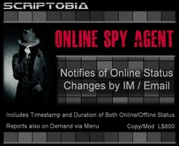 Online Spy Agent (tracks and notifies of online activity of unlimited avatars)