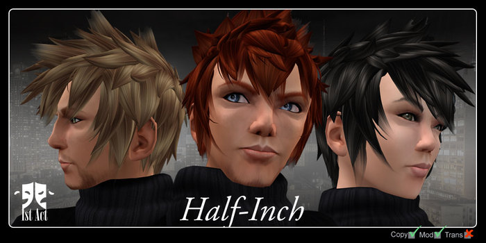 Second Life Marketplace 1a Hair Half Inch Ginger