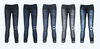 Low rise skinny jeans cuffed