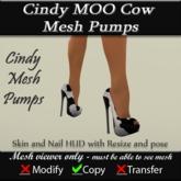 Cindy Mesh MOO Cow Pumps v3