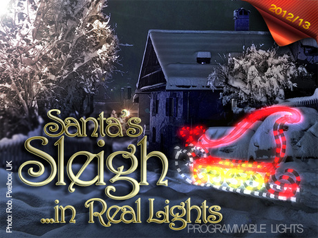 ::ON SALE:: Santa's Sleigh in Real Lights
