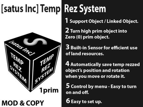 [satus Inc] Temp Rez System