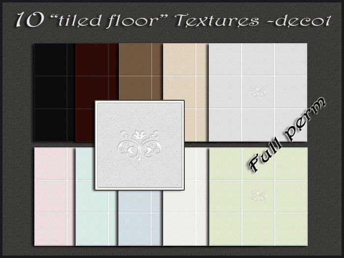 """Pack 10 """"tiled floor"""" textures deco1 (1024x1024)"""