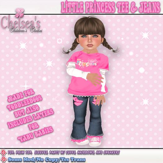 CCC Little Princess Tee & Jeans - Fits Toddleedoo or Yabusaka