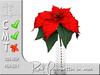Terrashop - Red Poinsettia in vase    100% original mesh