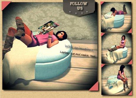 !! Follow US !! Relax winter pouff / Pillow