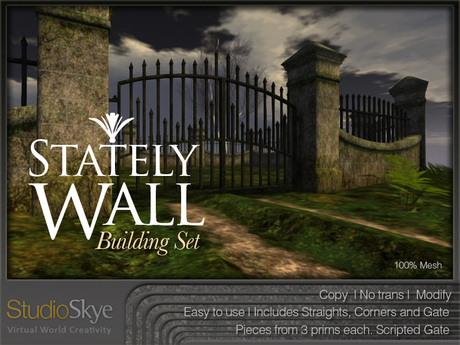 NEW * Stately Wall Building Set - 100% MESH