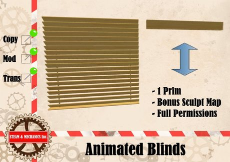Animated Blinds plus Sculptmap