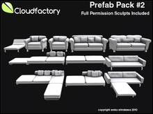 Fire Sale! CFD Prefab Pack #2,Three Full Permission High Quality Furniture Sets