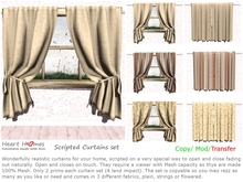 Heart Homes scripted curtains- Living room or any room drapes-