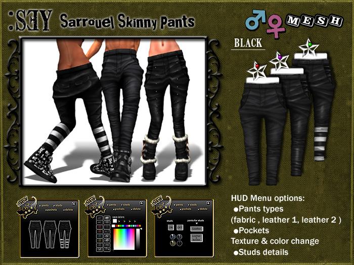 :SEY Sarrouel-Skinny_Pants-A [black]