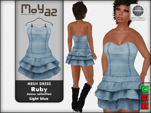 Ruby Mesh Dress - Jeans collection - Light blue