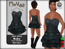 Ruby Mesh Dress - Jeans collection - Dark blue