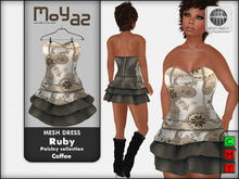 Ruby Mesh Dress - Paisley collection - Coffee