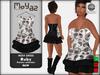 Ruby Mesh Dress - Paisley collection - B&W