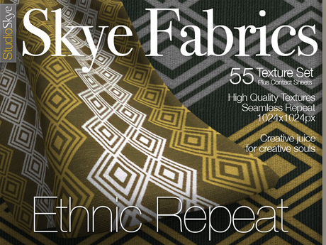 PROMO 50% off Skye Fabrics - Ethnic Repeat - 55 Fabric Textures Full Perms