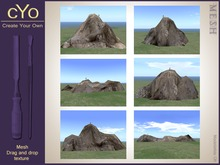 cYo Landscape Pack: 6 mountains and 10 textures, full perms meshes