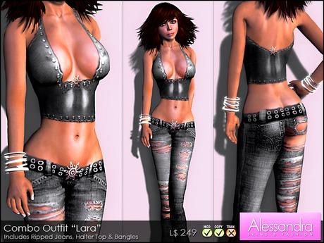 """ALESSANDRA - Combo Outfit """"Lara"""" BLACK"""