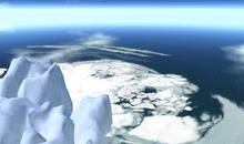 Outside sim foamy iceberg / waves  rocks cop/mod