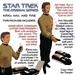 STAR TREK, TOS, Kirk's Hail and Fire